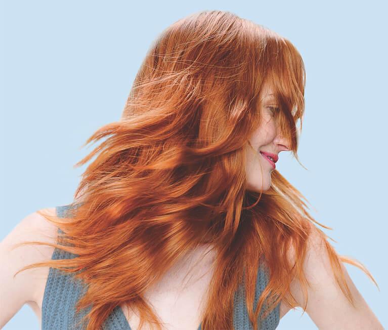Model with eSalon haircolor